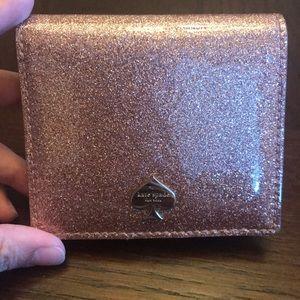 Beautiful Kate Spade Pink Glitter wallet